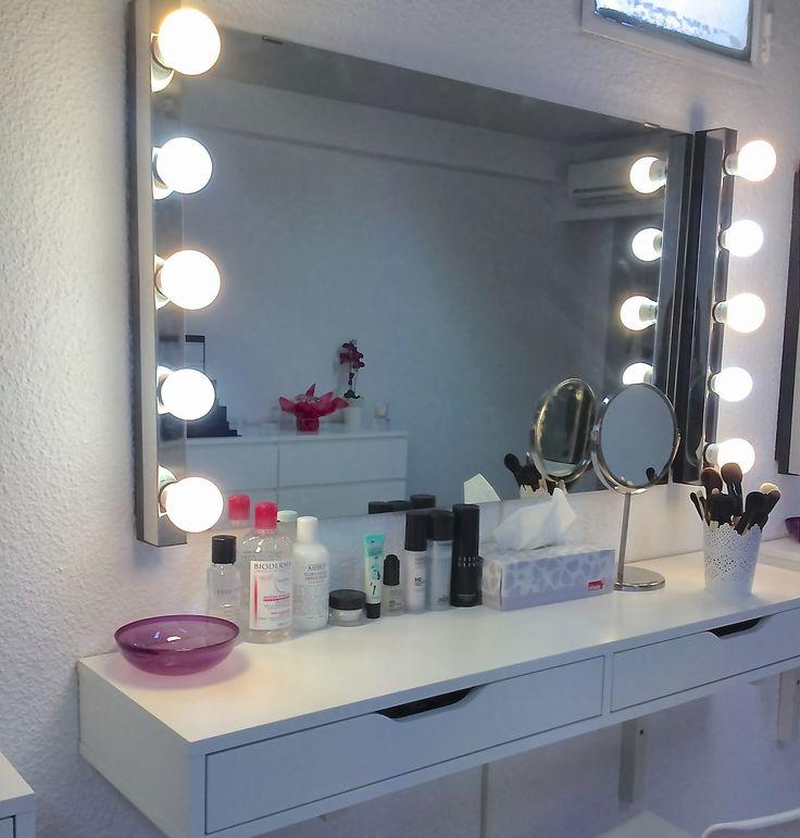 Las 25 mejores ideas sobre espejo para maquillarse en for Como poner un espejo en la pared