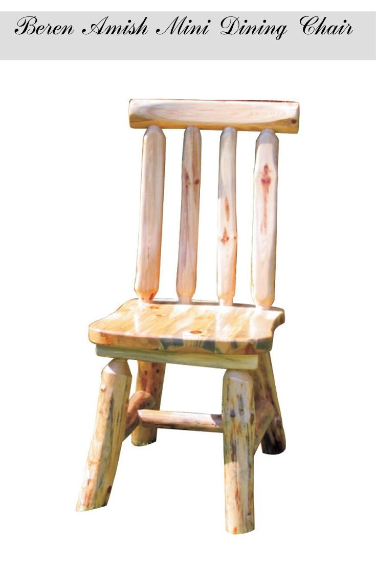 Beren Amish Mini Dining Chair Rustic Home Interiors Rustic