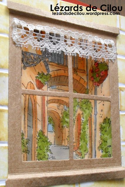 Cécile Ortiz_Stampin' Up! Mediterranean Moments Stamp Set; SU window die; watercolor