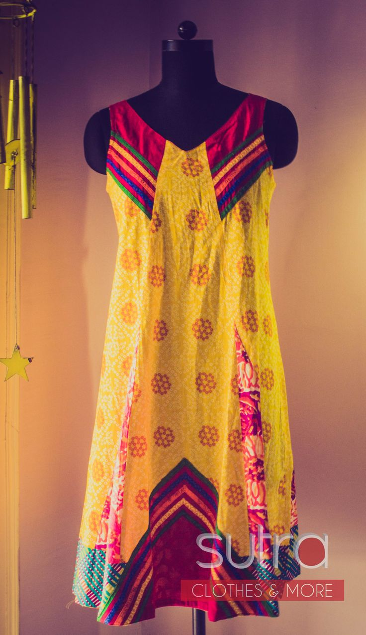 Printed cotton tunic in a summery yellow   http://on.fb.me/QUQ3TO