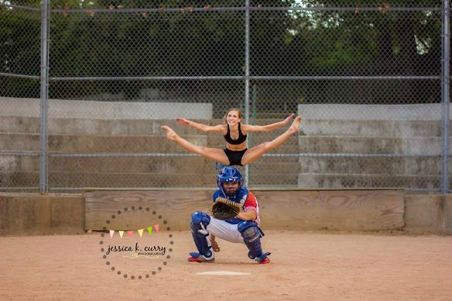 dance and baseball session.  young couple photo ideas. Jessica K. Curry Photography. Asheboro,  NC