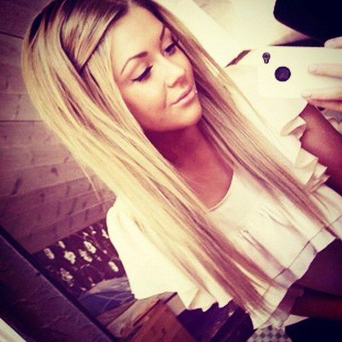 Blonde Hair... Long and straight