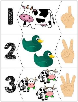 $1 | Here are some number puzzles that go great with the Click Clack Moo Cows That Type book. Puzzles for numbers 1-10.
