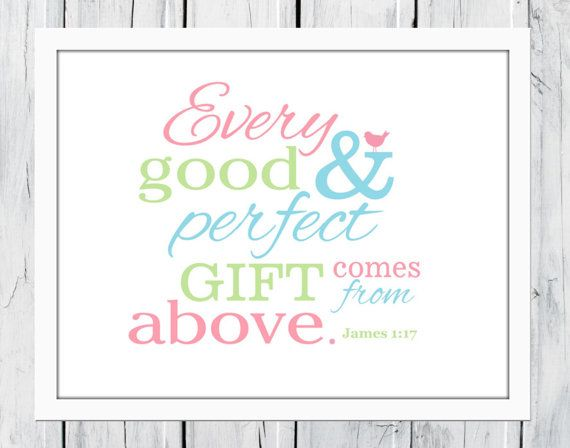 This beautiful bible verse from James 1:17 is available in colors shown or customize it with your choice of colors. The vintage look background or