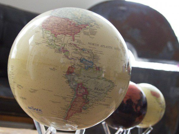 Gift Ideas , Desk Globes from MOVA Globes, Moves with the sun! The Grommet