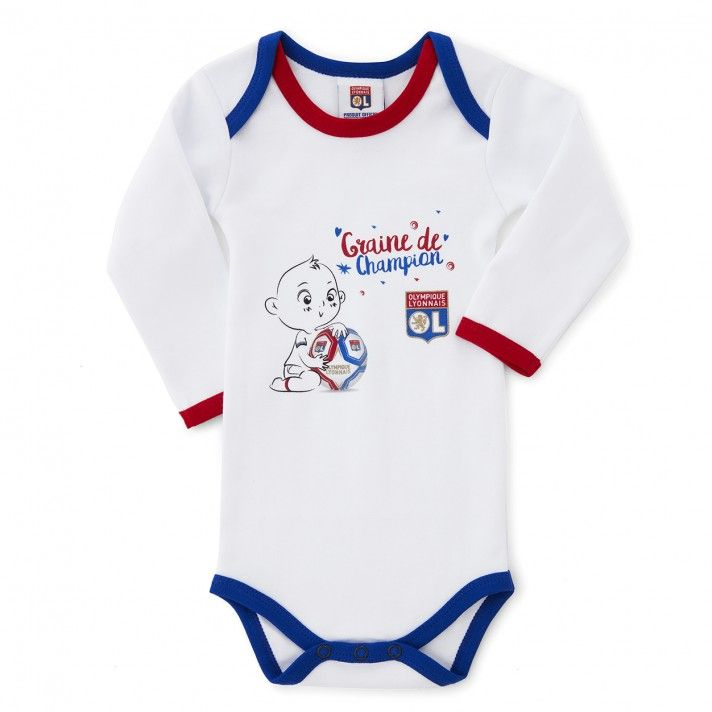 super popular 43fe3 89ee1 Body bébé manches longues Champion  bébé  olympiquelyonnais   OlympiqueLyonnais  foot  football