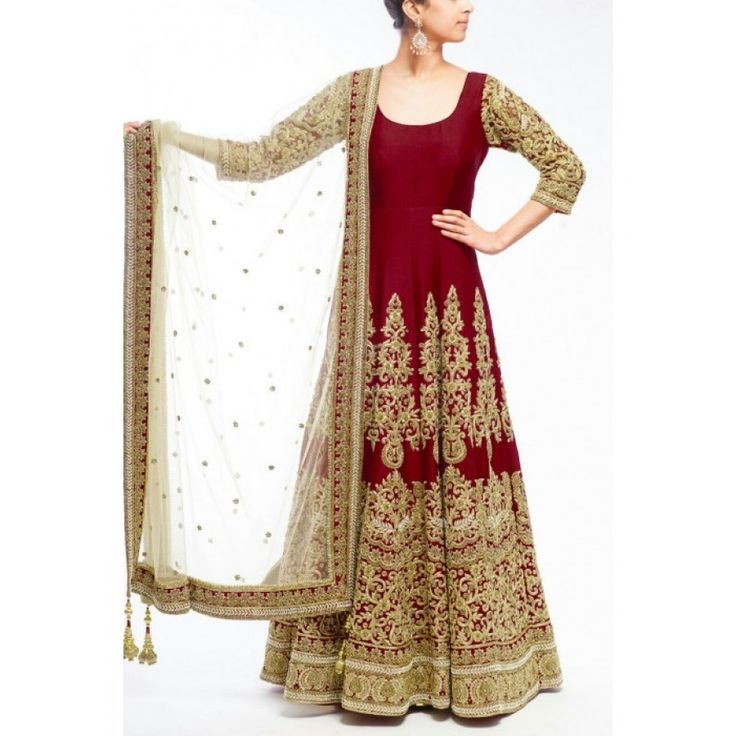 Gorgeous Maroon Color Heavy Zari Work Embroiderey Work Semi Stitch Gown at just Rs.2475/- on www.vendorvilla.com. Cash on Delivery, Easy Returns, Lowest Price.