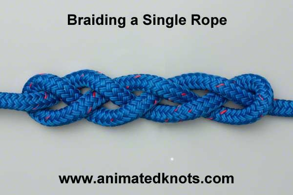 single rope braiding - VERY cool and useful for MANY projects ... love it! (and I can see a bracelet in this!)