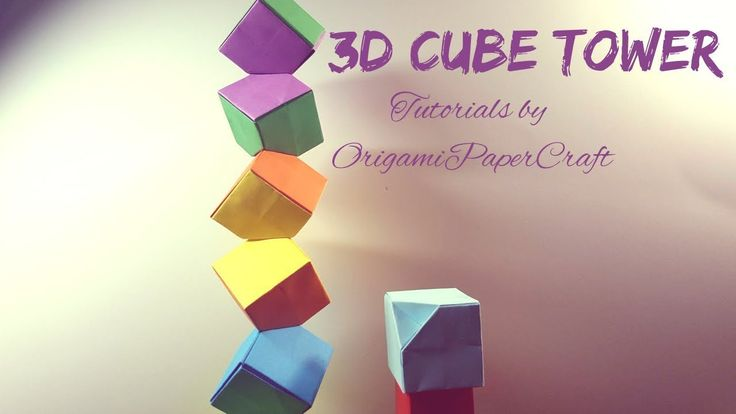 How to make an 3D CUBE Tower Origami || How many can you stack? || Tutor...