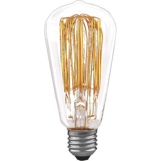 Ampoule vintage Rustika spéciale incandescente, E 27