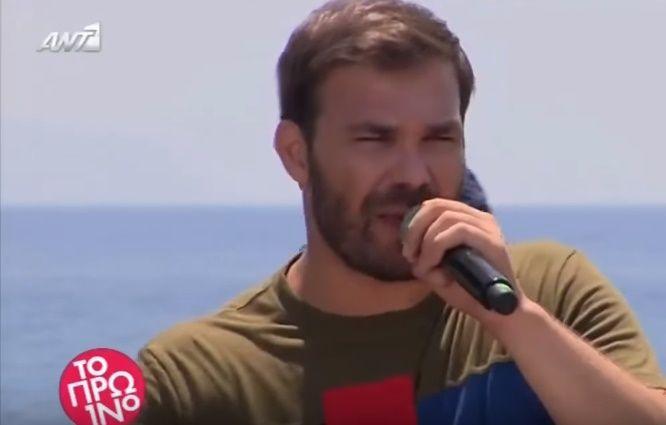 """Γιώργος Σαμπάνης: Δείτε την εμφάνισή του στο """"Πρωινό"""" (βίντεο)"""