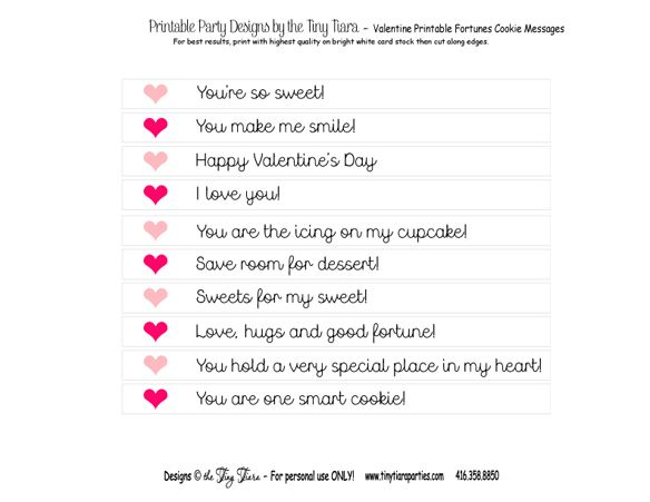 Funny Fortune Cookie Sayings Printable