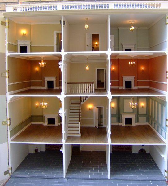 "Anglia Dolls Houses by Tim Hartnall - Ready to ""move in"" (Sudbury Hall interior)"