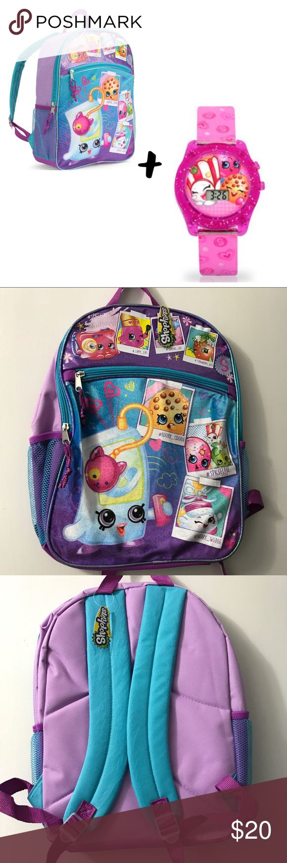 💫BOGO Just Listed NWT🌷SPRING Shopkins Bundle🎒⌚️ New Girls Shopkins Backpack and Watch Bundle.  Brand New w Tags.  Buy one Backpack get one Watch Free!! Shopkins Accessories Bags