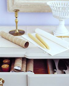 The best way to store candles to prevent breaking.