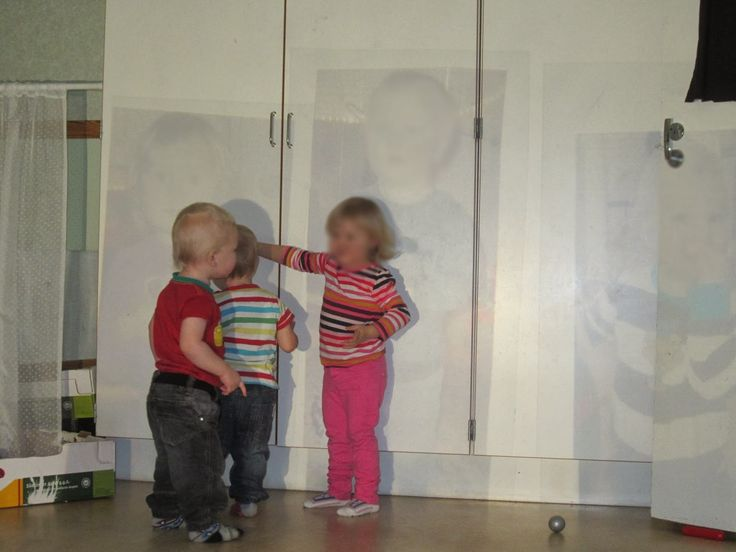 Photos of children printed out on OHP paper and projected onto wall-Syren Töreboda Blog