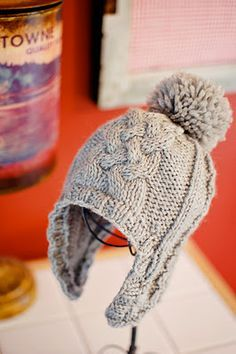 This handsome little pattern is called theMaster Charles Hat and is designed by the lovely Kate Oates of Tot Toppers. There is also a sweater pattern available to go with call the Master Charles Sweater.