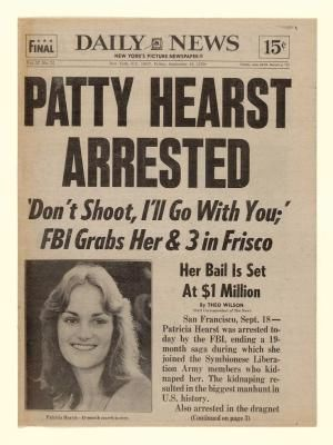 Sept. 18, 1975: The FBI captures newspaper heiress and fugitive Patricia Hearst in San Francisco 19 months after she was kidnapped by the Symbionese Liberation Army (SLA). by Artzi409