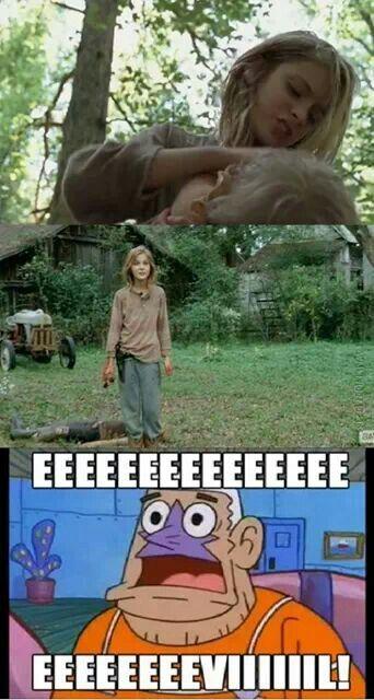 Mermaid Man knows what he's talking about! The Walking Dead - Lizzie is eeeeeeevil.......