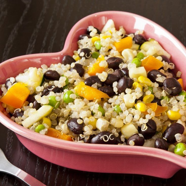 Healthy Quinoa And Black Beans Recipe With Onion Garlic Vegetable Broth Cumin Cayenne Pepper Corn And Cilantro D Bean Recipes Vegetarian Recipes Recipes