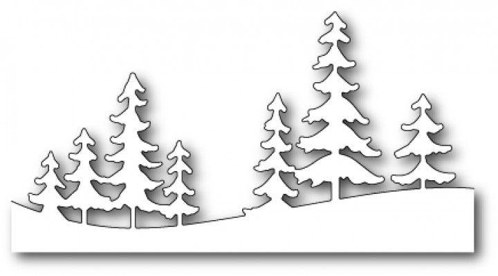 Memorybox Stanzform Border mit Kiefern-Bäume / Fresh Pine Landscape 99507