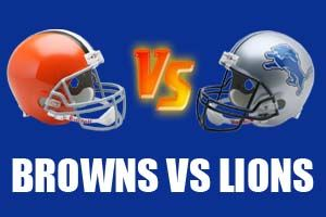 Cleveland Browns vs Detroit Lions Live Streaming