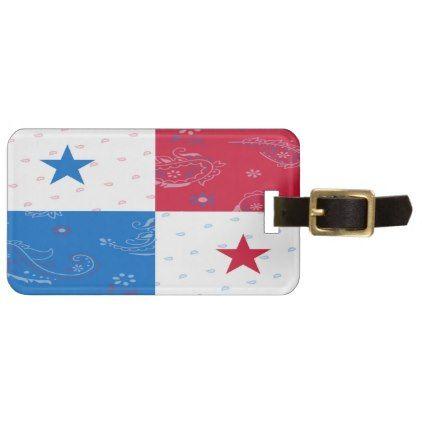 Panama Flag Luggage Tag - accessories accessory gift idea stylish unique custom