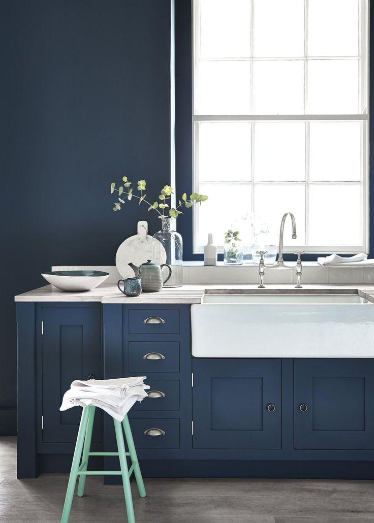 17 meilleures id es propos de cuisines bleu fonc sur for Top deco tout pour la maison