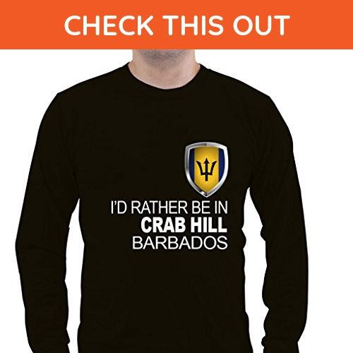 I'D RATHER BE IN BARBADOS CRAB HILL Unisex Long Sleeve Shirt - Animal shirts (*Amazon Partner-Link)