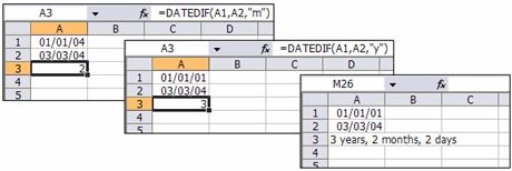 Calculate The Number Of Days, Months Or Years Between Two Dates - FREE Microsoft Excel Spreadsheet Tips and Tutorials
