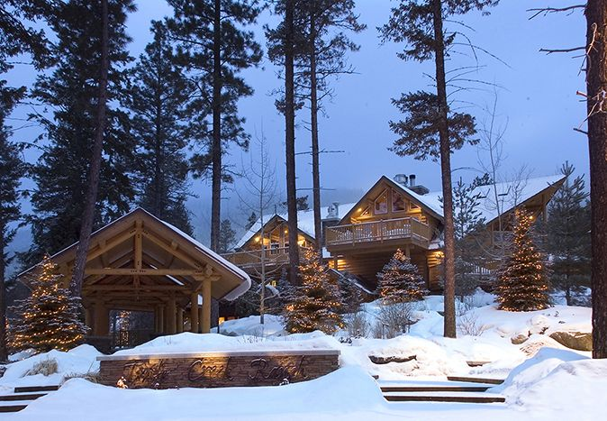 Triple Creek Ranch. Darby (Montana) USA. #Snow #Winter #RelaisChateaux #Chalet