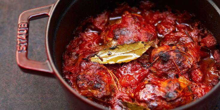 Paupiettes de veau aux oignons et tomates