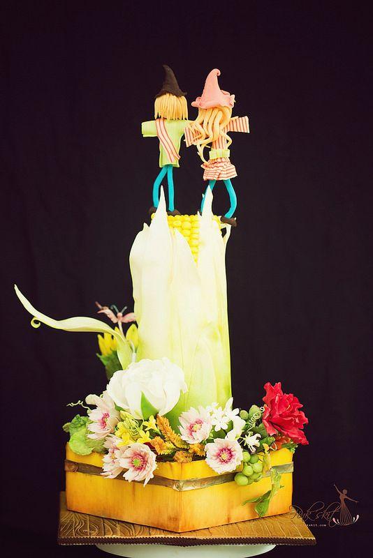 Rural wedding cake