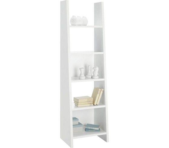 Polc: fehér dekor kivitelben, 5 polcos, 2 hátfallal, Szé/Ma/Mé: kb. 53,6/186,5/38cm