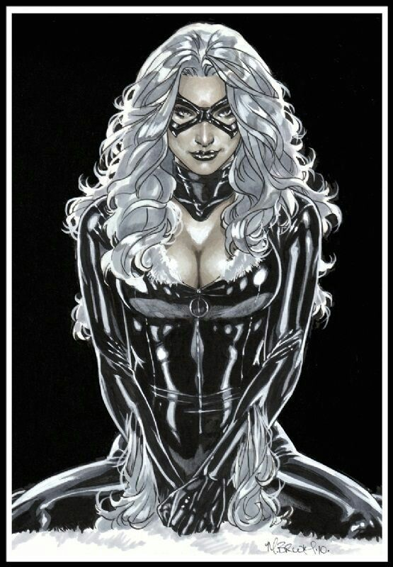 Black Cat by Mark Brooks #Marvel #comicgirl . Pin and follow @Pyra2elcapo
