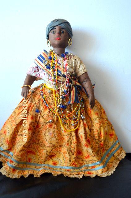 Ana Caldatto : Antiga boneca de Pano negra Baiana