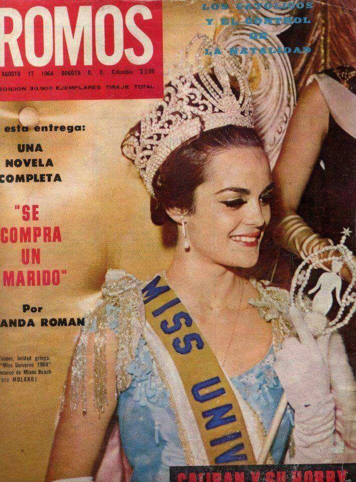 Kiriaki Corinna Tsopei - Greece - Miss Universe 1964
