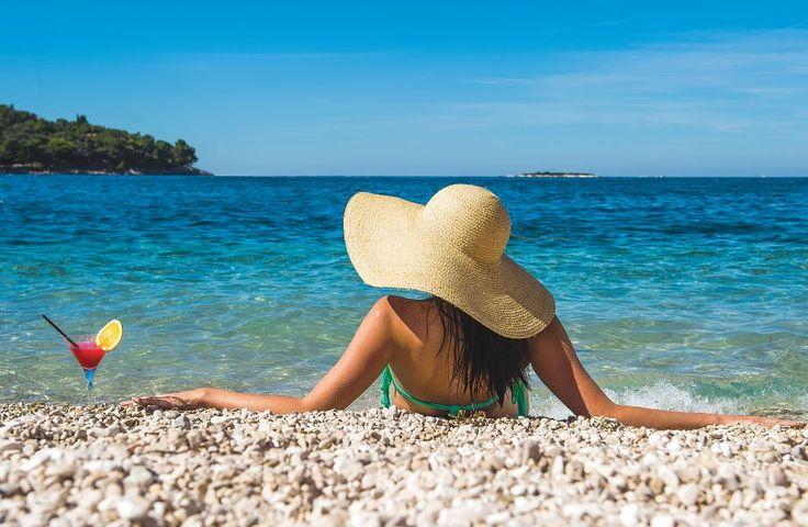 Beach @ Hotel Laguna Parentium #Porec #Croatia #summer #sea #beach