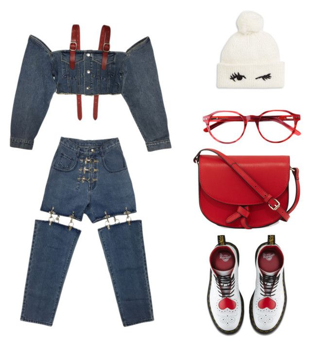 AN DA's style #3 by an-da-i on Polyvore featuring polyvore, fashion, style, Dr. Martens, KC Jagger, Kate Spade and clothing