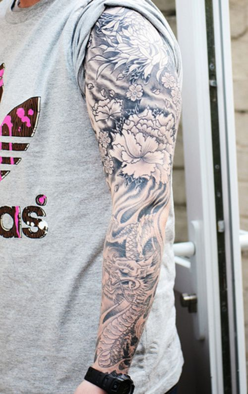 Obviously not this sleeve exactly but I'm loving the Japanese themed black and grey....