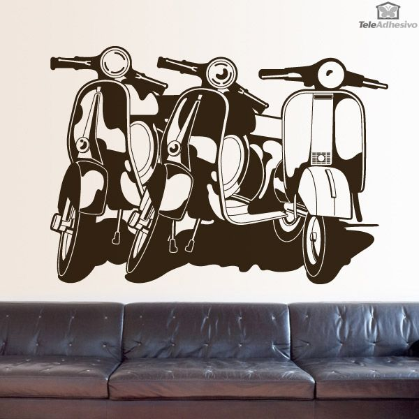 132 best images about top vinilos decorativos on pinterest for Vespa decoracion