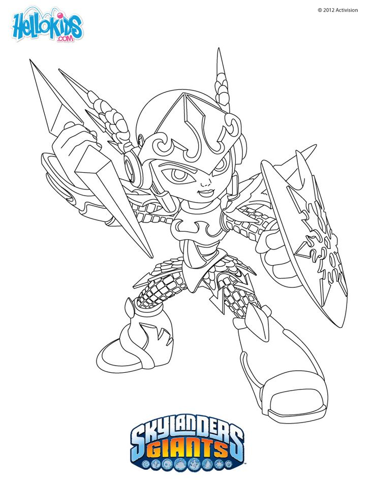Top coloring pages skylanders chill