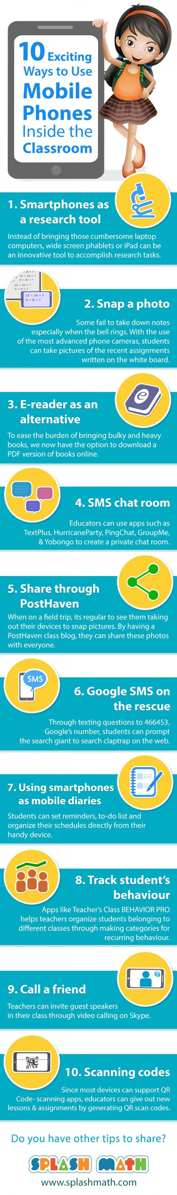 10 Good Ways to Integrate Mobile Phones in Class