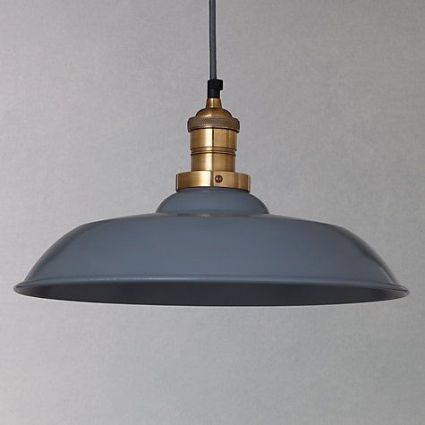Buy John Lewis Croft Collection Clyde Brass Trim Ceiling Pendant Light Online at johnlewis.com