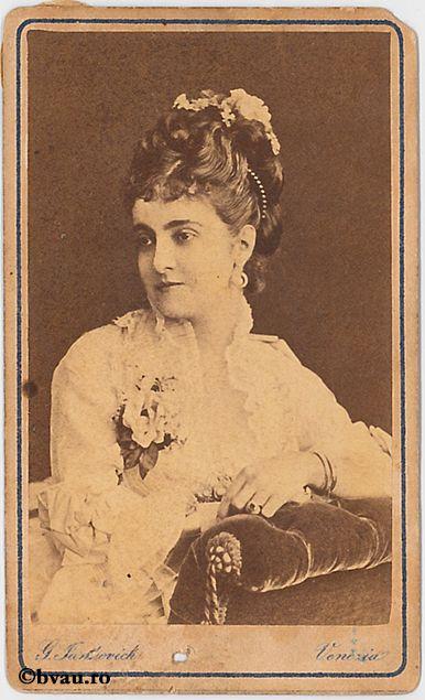 """Adelina Pathy. Imagine din colecțiile Bibliotecii """"V.A. Urechia"""" Galați."""