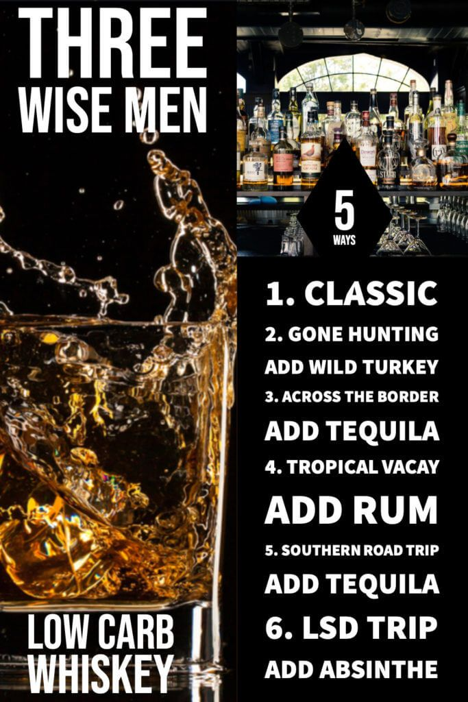 6 Ways To Make A Three Wise Men Shot Word To Your Mother Blog Recipe Three Wise Men Low Carb Cocktails Whiskey Recipes