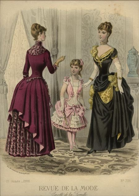 revue de la mode 1886 victorian dresses pinterest girls bustle and la mode. Black Bedroom Furniture Sets. Home Design Ideas