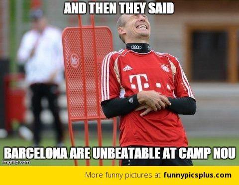 10 Barcelona vs Bayern Munich Memes