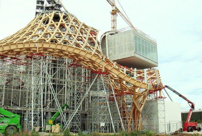 Lavori di costruzione del Centre Pompidou-Metz a Metz - #Shigeru #Ban
