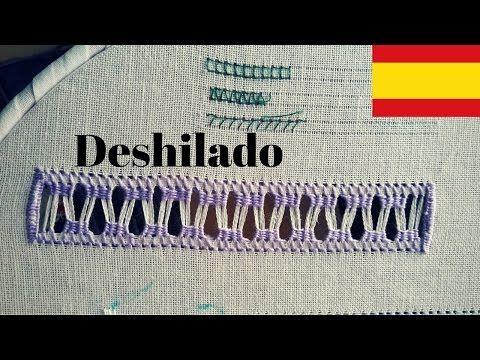 VideoTutoria de Bordado | Deshilado - YouTube